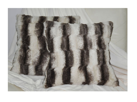 LUCY'S Faux Fur Plush Square Cushion, ACS-606