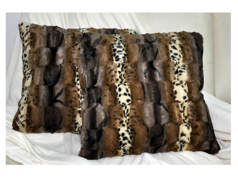LUCY'S Faux Fur Plush Square Cushion, ACS-608