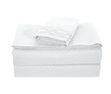 BELLAHOME 75g 4pcs bedsheet set, luxury embroidery, BSEM17 WHITE