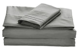 BELLAHOME 75g 4pcs bedsheet set, luxury embroidery, BSEM13 GREY