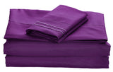 BELLAHOME 75g 4pcs bedsheet set, luxury embroidery, BSEM13 PURPLE