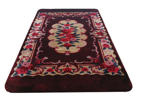 OSAKA acrylic carpet with cutting, CP-01 BURGUNDY