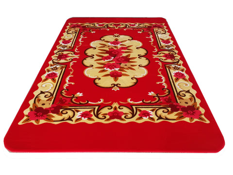 Beautiful Velvet Soft Carpet with cutting, CP-01 RED