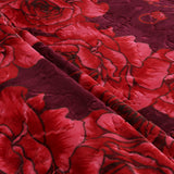 OSAKA high quality thick flannel blanket, HIBISCUS, HB-4 RED