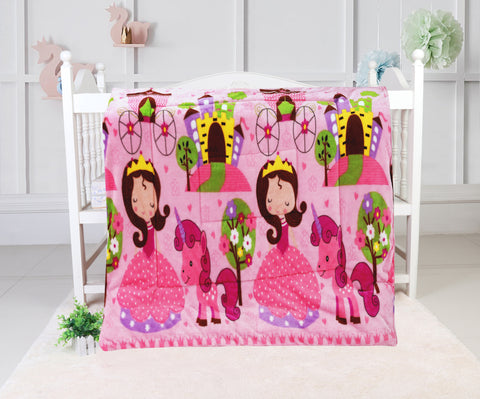 super soft quilted blanket, QB-14 PINK