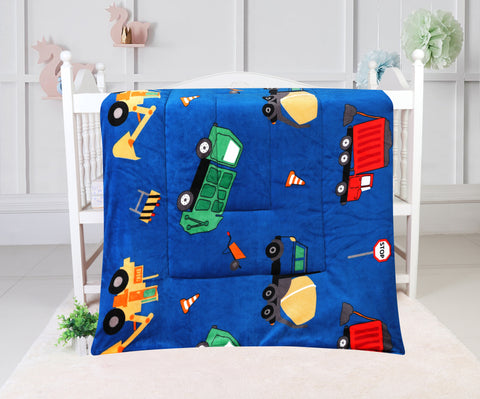 super soft quilted blanket, QB-20 BLUE