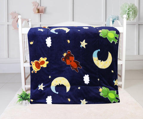 super soft quilted blanket, QB-21 BLUE