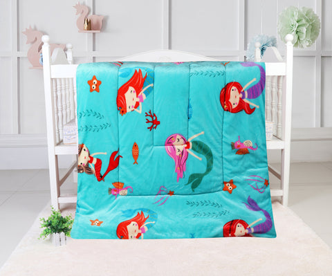 super soft quilted blanket, QB-23 TURQUOISE