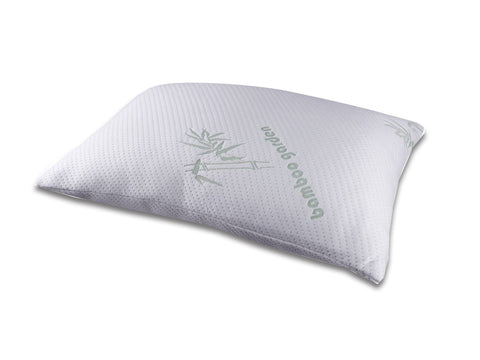 Shredded Memory Foam Pillow - Adjustable, Stay Cool, Hypoallergenic, Dust Mite Resistant - Premium FIRM Bamboo Pillow for Side Sleeper and Back Sleeper Queen King