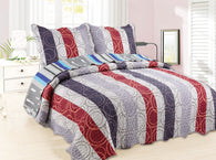 GARDENHOME 3pcs quilt set, without patchwork, QTP-30