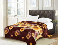 TOWNHOUSE flannel blanket, RFMQ/K-28 COFFEE