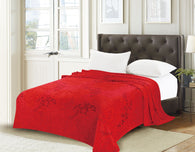 TOWNHOUSE flannel blanket, RFMQ/K-53 RED