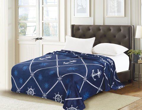 TOWNHOUSE flannel blanket, RFMQ/K-58 BLUE