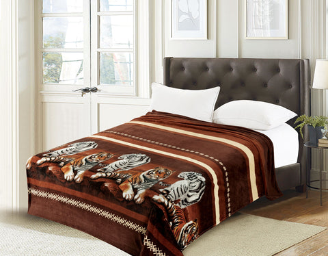 TOWNHOUSE flannel blanket, RFMQ/K-80 BROWN