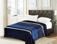 TOWNHOUSE flannel blanket, RFMQ/K-83 NAVY