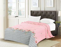 TOWNHOUSE flannel blanket, RFMQ/K-94 PINK