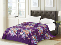 TOWNHOUSE flannel blanket, RFMQ/K-96 PURPLE