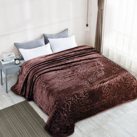 TOWNHOUSE 1ply embossing cloud blanket, solid color, TCB-COFFEE