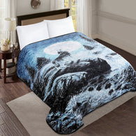 TOWNHOUSE 1ply embossing cloud blanket, TCB06 BLUE