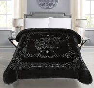 BELLAHOME 1ply solid embossing blanket, TEBS-BLACK