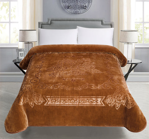 BELLAHOME 1ply solid embossing blanket, TEBS-BROWN