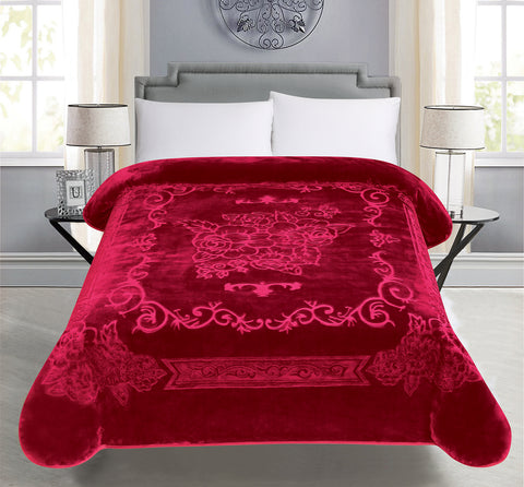BELLAHOME 1ply solid embossing blanket, TEBS-BURGUNDY