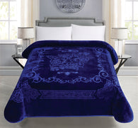 BELLAHOME 1ply solid embossing blanket, TEBS-NAVY