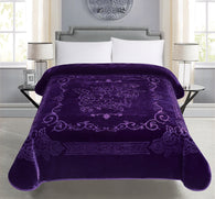 BELLAHOME 1ply solid embossing blanket, TEBS-PURPLE