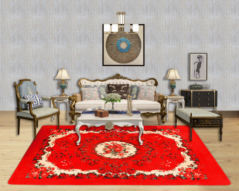 TOWNHOUSE super soft carpet with Anti-slip, TRG-S02 RED