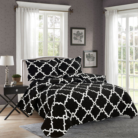 BELLA HOME, 3 PCS QUILT REVERSIBLE SET, QTP-U50