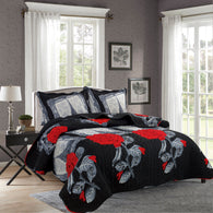 BELLA HOME, 3 PCS QUILT REVERSIBLE SET, QTP-U57