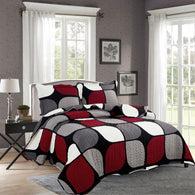 BELLA HOME, 3 PCS QUILT REVERSIBLE SET, QTP-U62