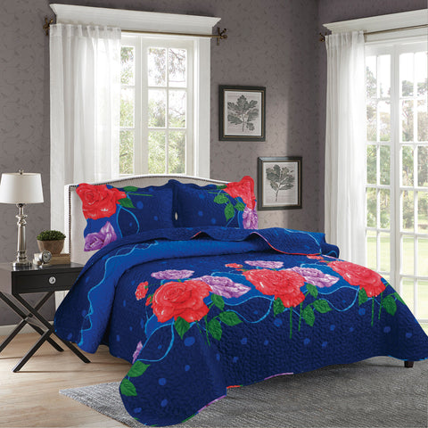 BELLA HOME, 3 PCS QUILT REVERSIBLE SET, QTP-U64