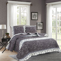 BELLA HOME, 3 PCS QUILT REVERSIBLE SET, QTP-U71