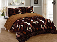 OSAKA 3 PIECE BORREGO BLANKET UHM-16N COFFEE