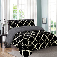 OSAKA 3 PIECE BORREGO BLANKET, UHM-50 BLACK