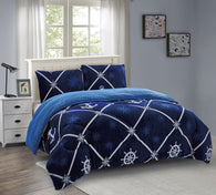 OSAKA 3 PIECE BORREGO BLANKET UHM-58 BLUE