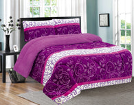 UHIQUE HOME 3 PIECE BORREGO BLANKET UHM-71 PURPLE