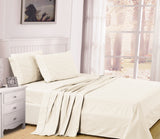 UNIQUEHOME 100% cotton 4pcs bedsheet set, CBS200 BEIGE