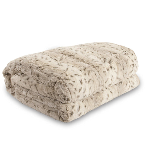 Safari Faux Fur Plush Throw Blanket Comforter
