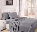 UNIQUEHOME 100% cotton 4pcs bedsheet set, CBS200 GREY
