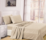 UNIQUEHOME 100% cotton 4pcs bedsheet set, CBS200 TAUPE
