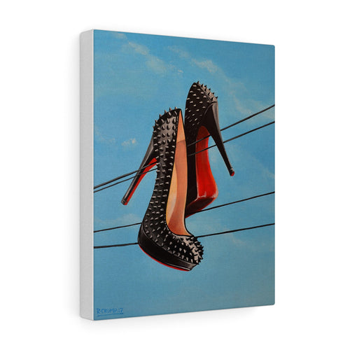 Canvas Print Loubouitin Spiked Pumps Painting