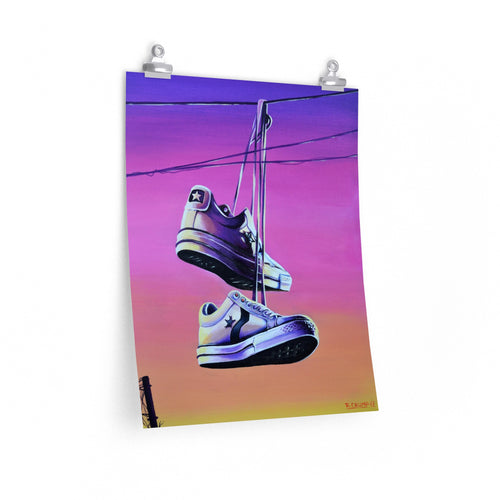 Poster Print Converse All Star Lo Painting