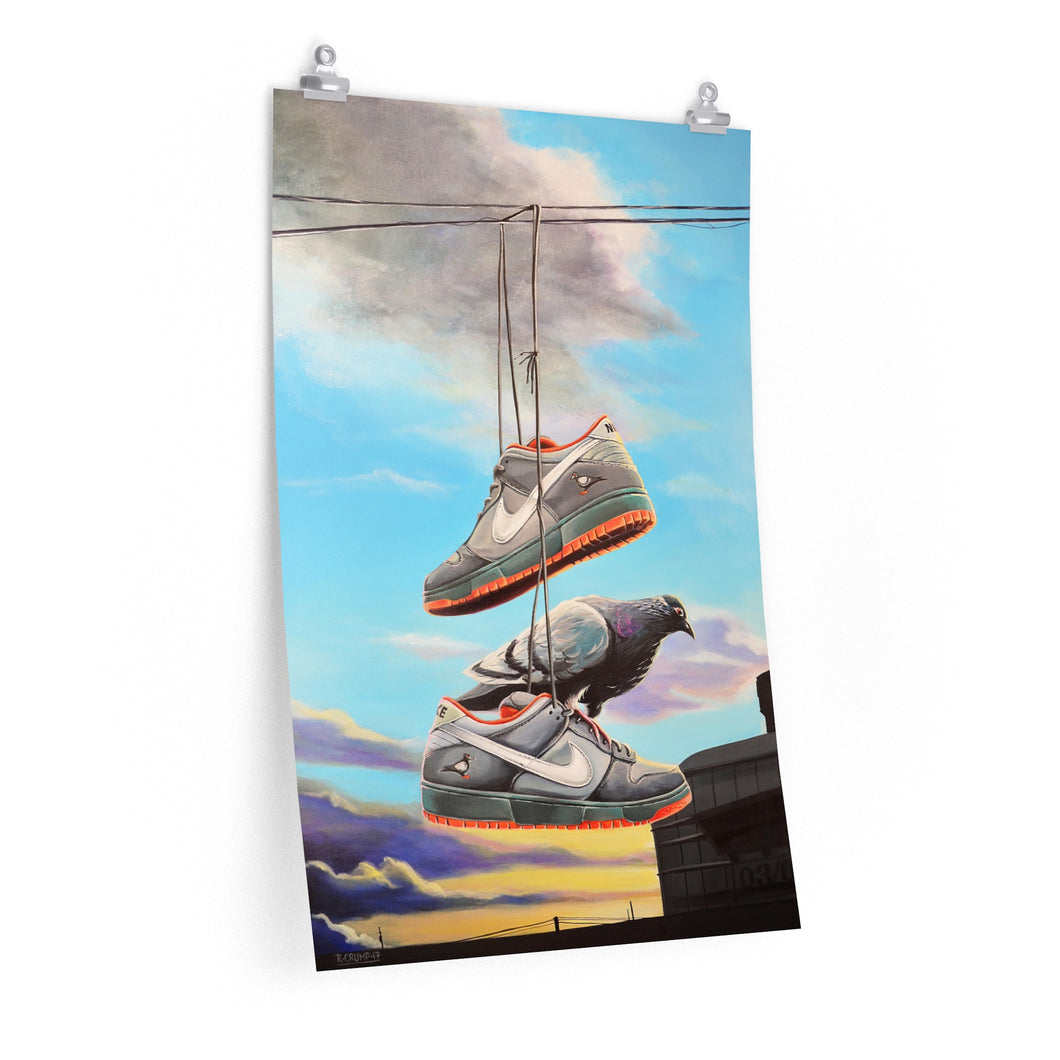 Poster Print Nike SB Dunk Staple Pigeon Painting