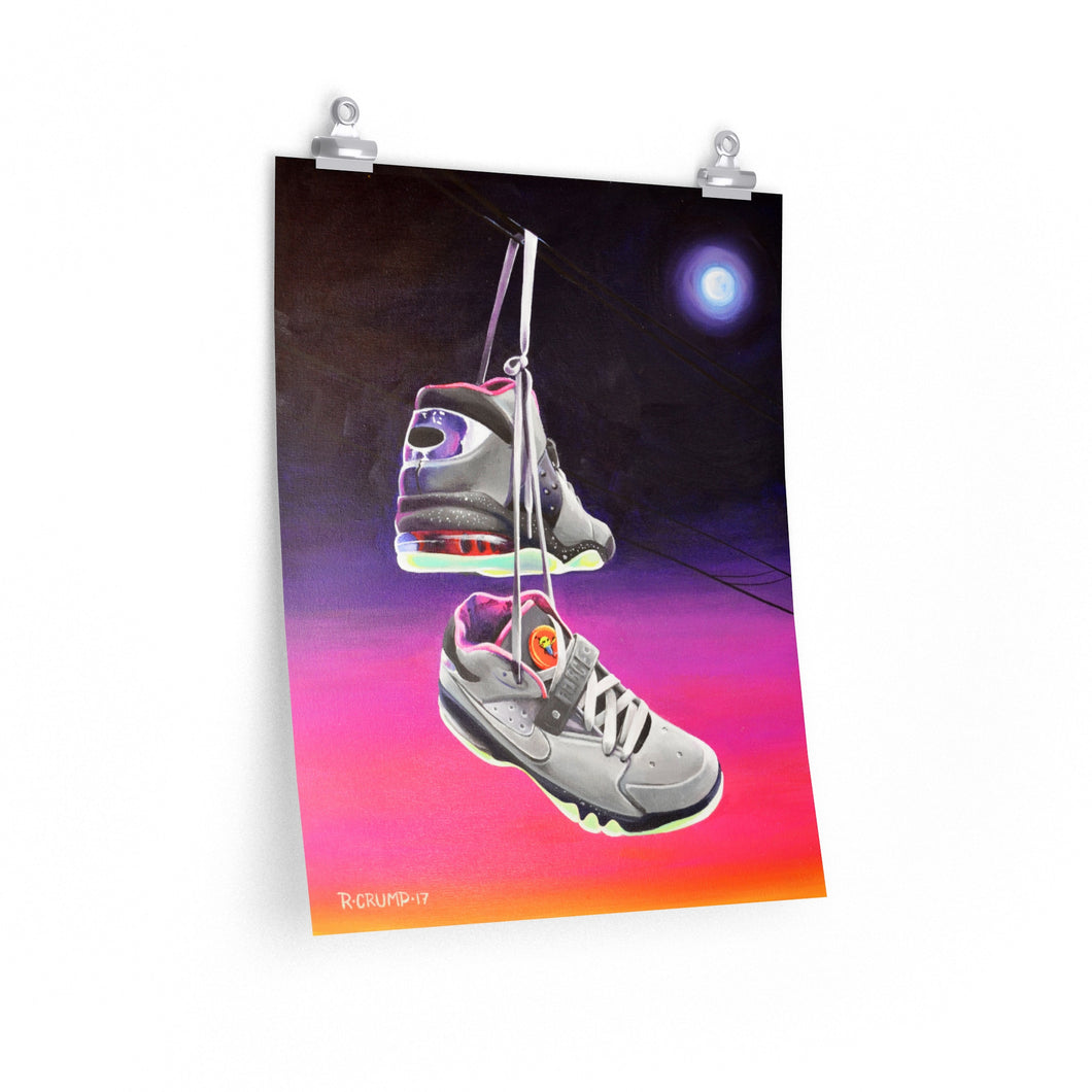 Poster Print Nike Air Force Max Area 72 Rayguns Painting