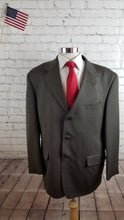 Jones New York Men's Brown Suit 44R Waist 35 Inseam 31.5 $395 - SUIT CHARITY OUTLET