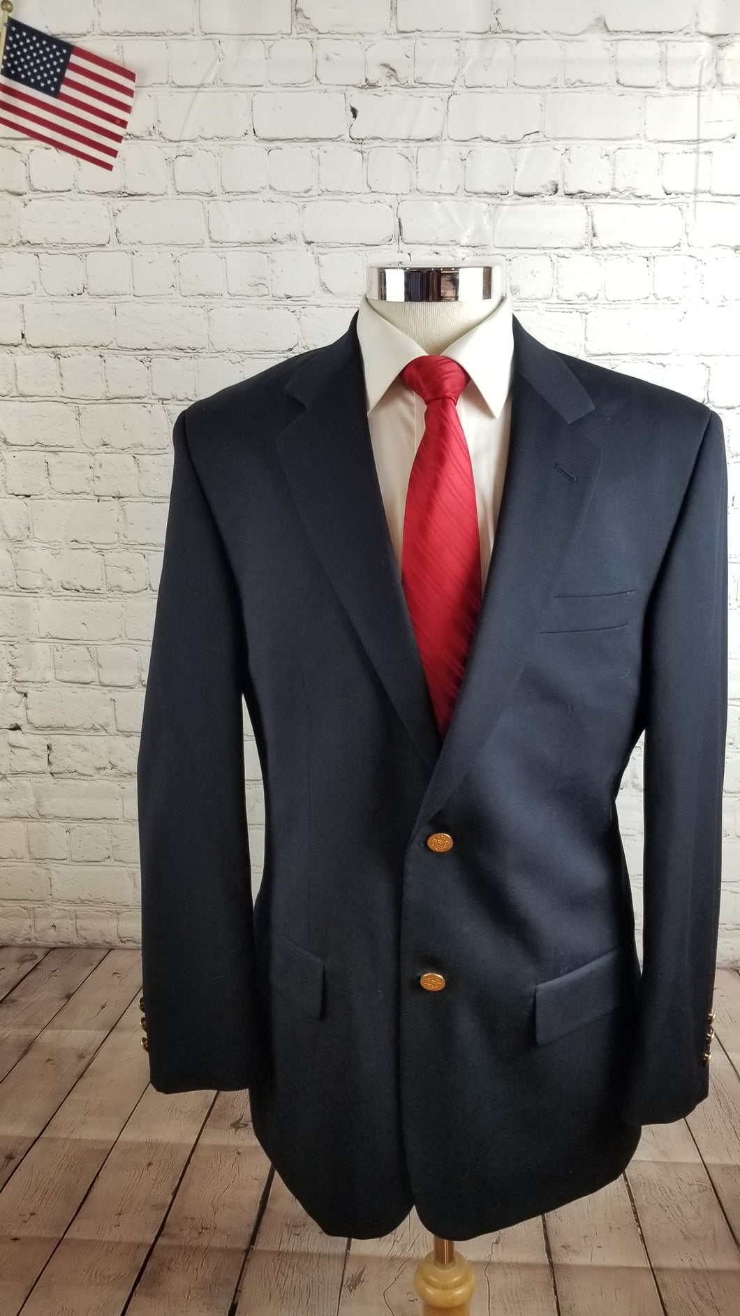 Joseph & Feiss Men's Navy WOOL Blazer Sport Coat Suit Jacket 42R $395