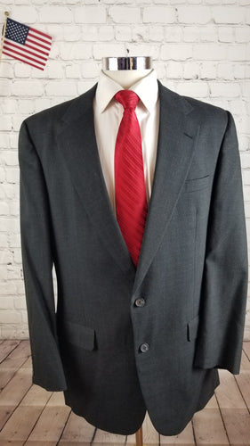 Doncaster Men's Gray Plaid Suit 40 Waist 36 Inseam 31.5 $595 - SUIT CHARITY OUTLET