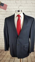 Ralph Lauren Men's Navy Blue Pinstripe Suit 44 Waist 34 Inseam 31.5 $795